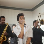 GET ON UP, left: Craig Robinson, center: Chadwick Boseman (as James Brown), 2014. ph: D